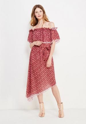 Платье Topshop. Цвет: бордовый