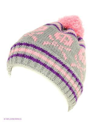 Шапка Maxval. Цвет: серый, фиолетовый, розовый