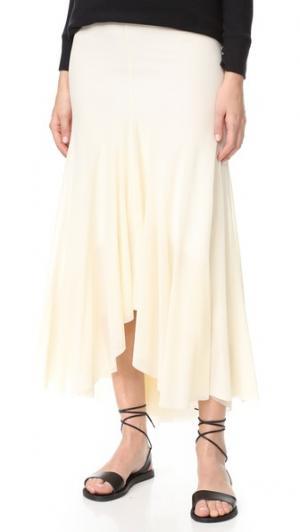 Длинная юбка Fuzzi. Цвет: cigno
