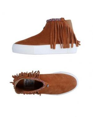 Высокие кеды и кроссовки DOLFIE. Цвет: коричневый