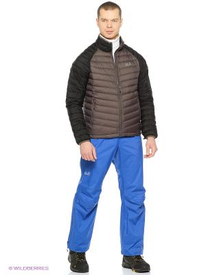 Брюки CLOUDBURST PANTS MEN Jack Wolfskin. Цвет: голубой