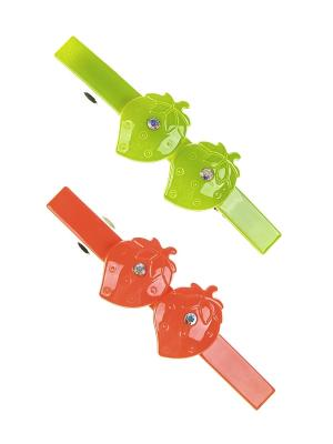 Заколка-автомат (2 шт.) Happy Charms Family. Цвет: оранжевый, зеленый