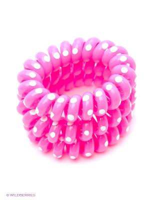 Резинка-браслет для волос, 3 шт. Mitya Veselkov. Цвет: розовый