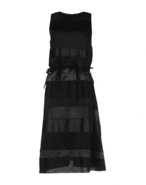 Платье длиной 3/4 SARA LANZI. Цвет: черный