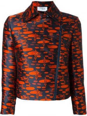 Куртка со смещенной застежкой Akris. Цвет: красный