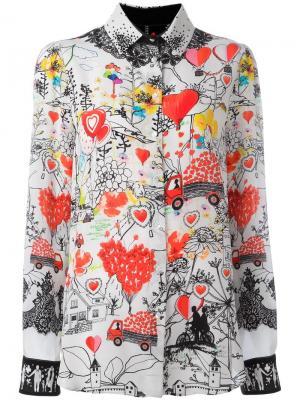 Рубашка с узорами Piccione.Piccione. Цвет: многоцветный