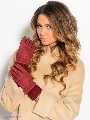 Перчатки Modo. Цвет: бордовый