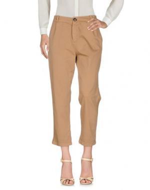 Повседневные брюки KONTATTO. Цвет: песочный