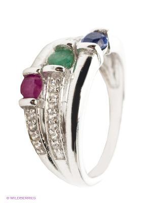 Кольцо Art Silver. Цвет: серебристый, лиловый, синий, зеленый