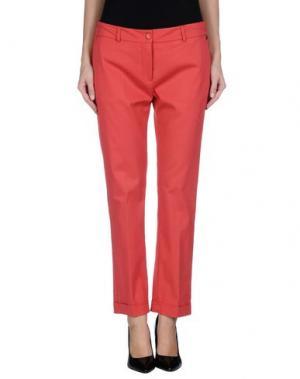 Повседневные брюки POIS. Цвет: коралловый