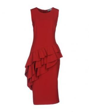 Платье до колена ANIYE BY. Цвет: красный