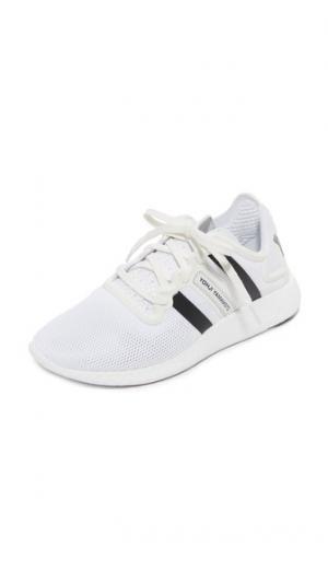 Беговые кроссовки  Yohji Y-3. Цвет: белый/кристально-белый/черный