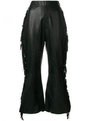 Расклешенные брюки с бахромой Ellery. Цвет: чёрный
