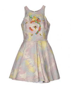 Короткое платье PICCIONE•PICCIONE. Цвет: светло-розовый