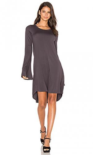 Мини платье kipp Michael Lauren. Цвет: серый