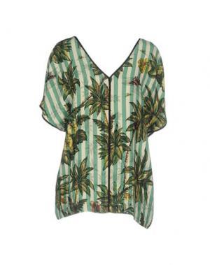 Блузка SHIRTAPORTER. Цвет: зеленый