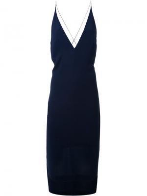 Платье на бретелях Dion Lee. Цвет: чёрный