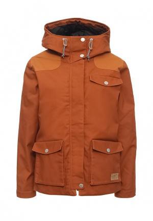 Куртка утепленная CLWR. Цвет: коричневый