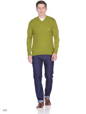 Пуловер Bilwelli. Цвет: оливковый