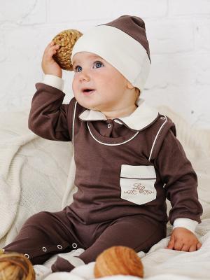 Ползунки Lucky Child. Цвет: коричневый, молочный