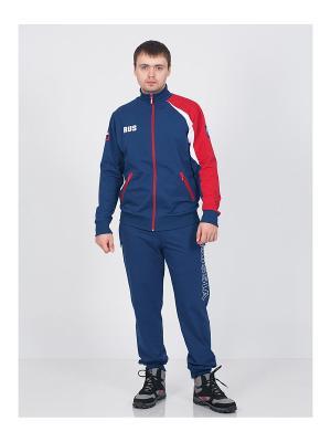 Спортивный костюм CROSS sport. Цвет: синий