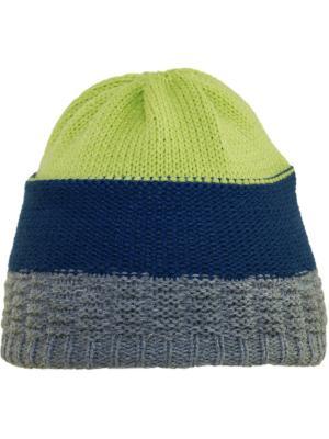 Шапка YO!. Цвет: темно-синий, зеленый, серый