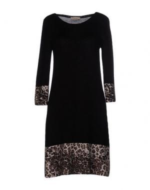 Короткое платье MARANI JEANS. Цвет: черный