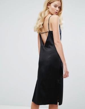 Walter Baker Шелковое платье Kendall. Цвет: черный