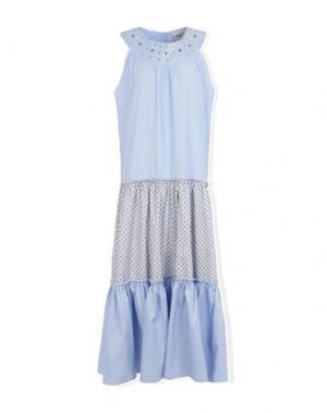 Длинное платье MARIUCCIA. Цвет: небесно-голубой