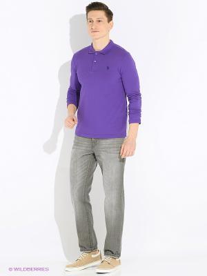 Лонгслив U.S. Polo Assn.. Цвет: фиолетовый