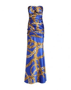 Длинное платье BOUTIQUE MOSCHINO. Цвет: синий