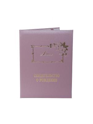 Именная обложка для свидетельства о рождении Алиса Dream Service. Цвет: розовый