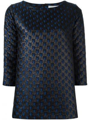 Жаккардовая блузка Gianluca Capannolo. Цвет: синий