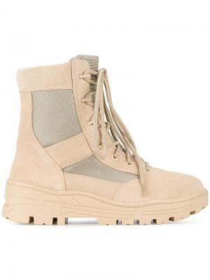 Армейские ботинки Yeezy. Цвет: телесный