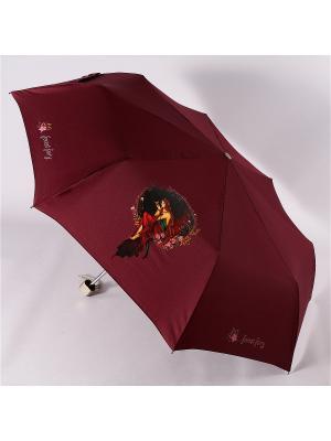 Зонт Airton. Цвет: бордовый, черный