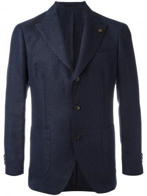 Пиджак с вышивкой Gabriele Pasini. Цвет: синий