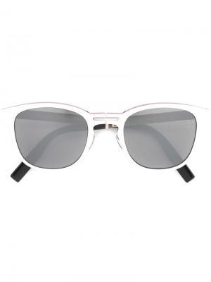 Солнцезащитные очки в квадратной оправе Dior Eyewear. Цвет: белый