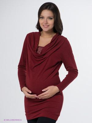 Платье Hunny Mammy. Цвет: темно-красный