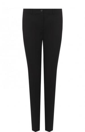 Однотонные шерстяные брюки прямого кроя Michael Kors Collection. Цвет: черный