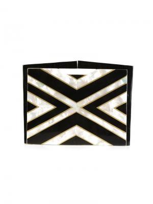 Клатч Lenox с орнаментом Nathalie Trad. Цвет: чёрный