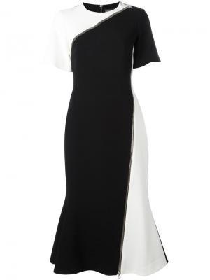 Расклешенное платье с молниями David Koma. Цвет: чёрный