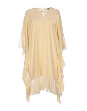 Короткое платье FUZZI. Цвет: слоновая кость