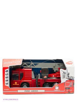 Пожарная машина, функц., 43 см, 0/6 Dickie. Цвет: красный, серый