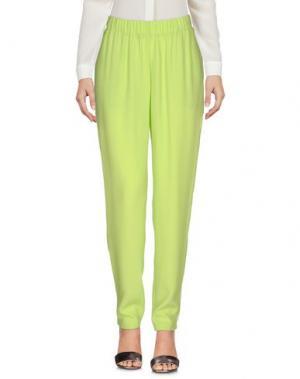 Повседневные брюки BLUE LES COPAINS. Цвет: светло-зеленый