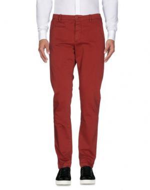 Повседневные брюки UNIFORM. Цвет: кирпично-красный