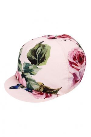 Розовая кепка с коротким козырьком Dolce&Gabbana Children. Цвет: розовый