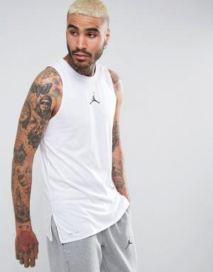 Jordan Белая футболка Nike 23 Tech Dry 838859-100. Цвет: белый