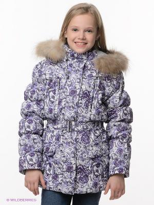 Куртка Devance. Цвет: белый, лиловый