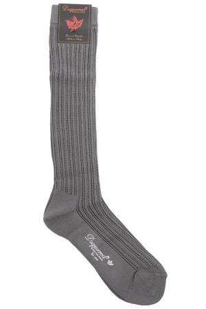 Носки DSQUARED. Цвет: 210, antracite серый