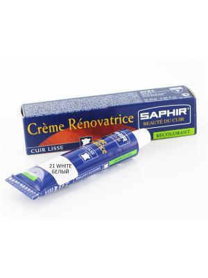 Восстановитель кожи Creme RENOVATRICE, 25 мл. (жидкая кожа)(БЕЛЫЙ - 21) Saphir. Цвет: белый